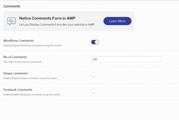 AMP for WP Comments