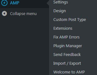 AMP for WP Menu